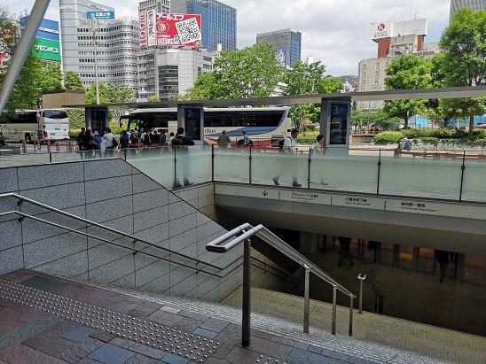 東京駅 八重洲南口 八重洲地下街 階段